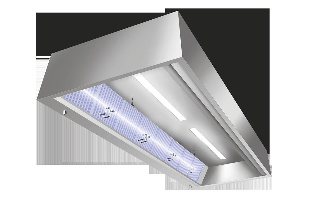 UV-C System integriert in einer Küchenhaube