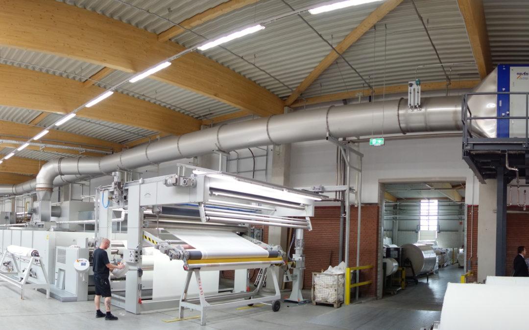 Textilluftreiniger für die Textilveredelung reinigt sich selbst
