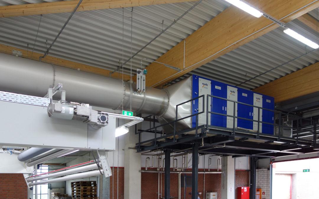 Textil-Spannrahmen – Luftreiniger verhindert Verstopfungen