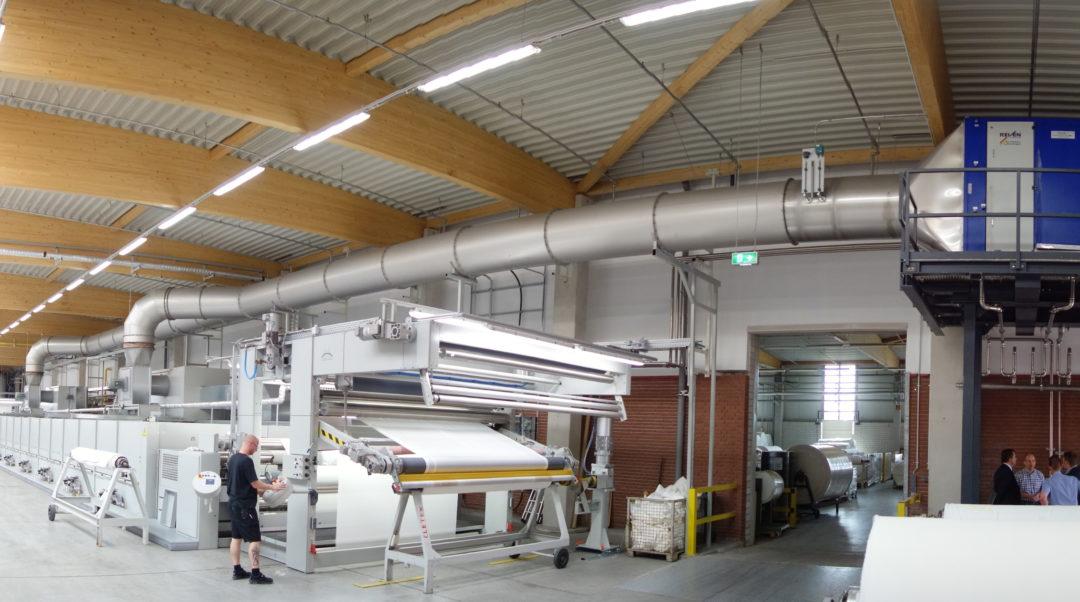 Luftreiniger für Textil-Spannrahmen