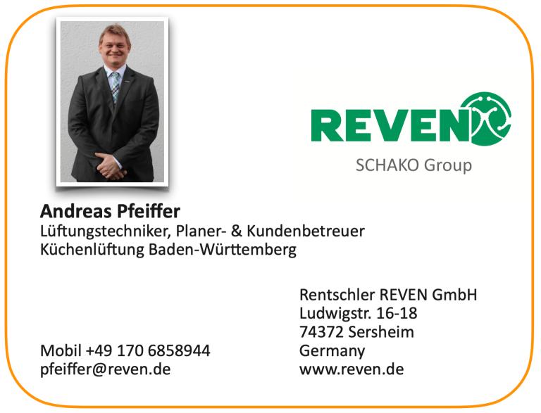 Andreas Pfeiffer Kundenbetreuer Küchenlüftung für Addi Schuller