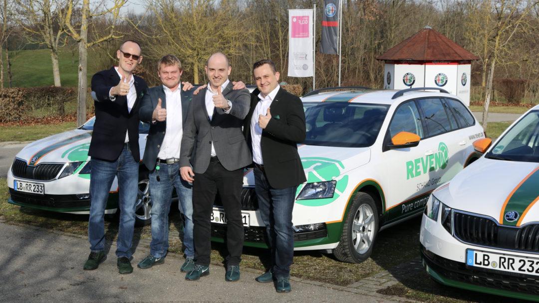 Sven & Vitali beim offiziellen Start mit Andreas & Tamás Szegfü im Januar 2020