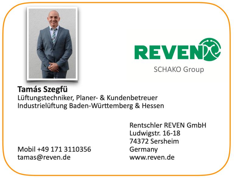 Kontaktdaten Tamás Szegfü neuer Kontakt für den bisherigen Vertriebspartner Hans Peter Herrmann