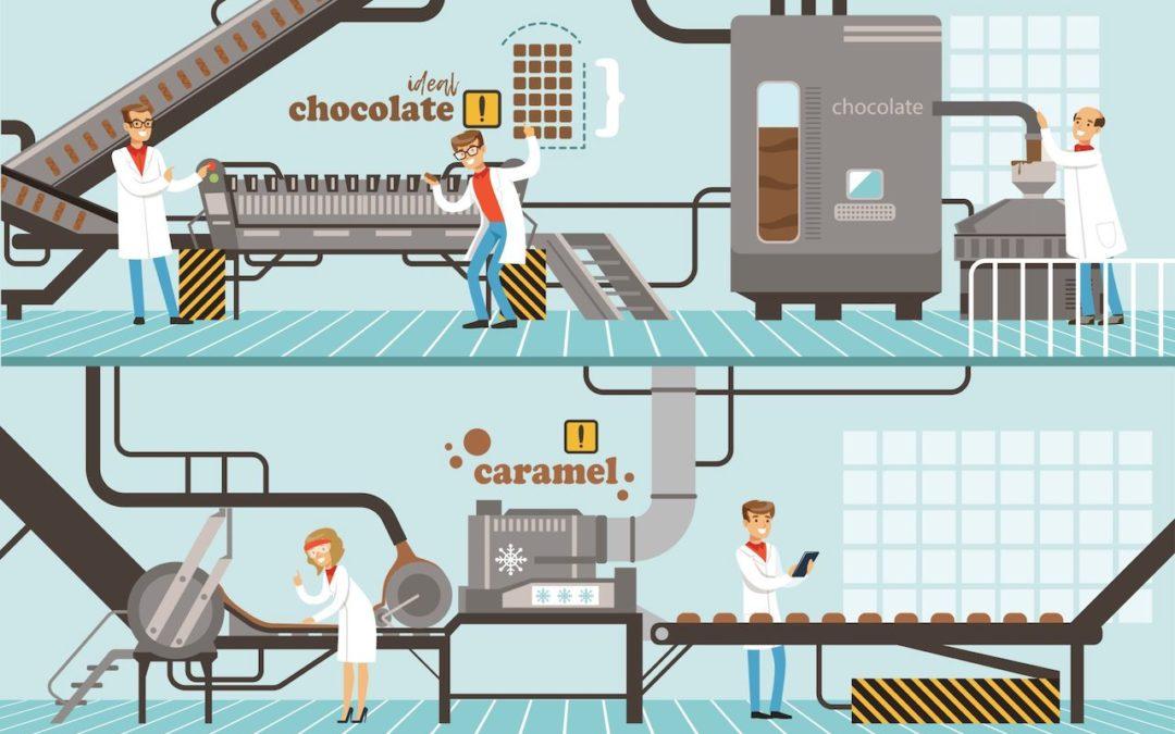 Lebensmittelindustrie Lüftungssystem verhindert Luftbelastungen in der Produktion
