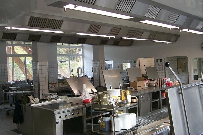 Küchen Lüftungsdecke mit Induktion