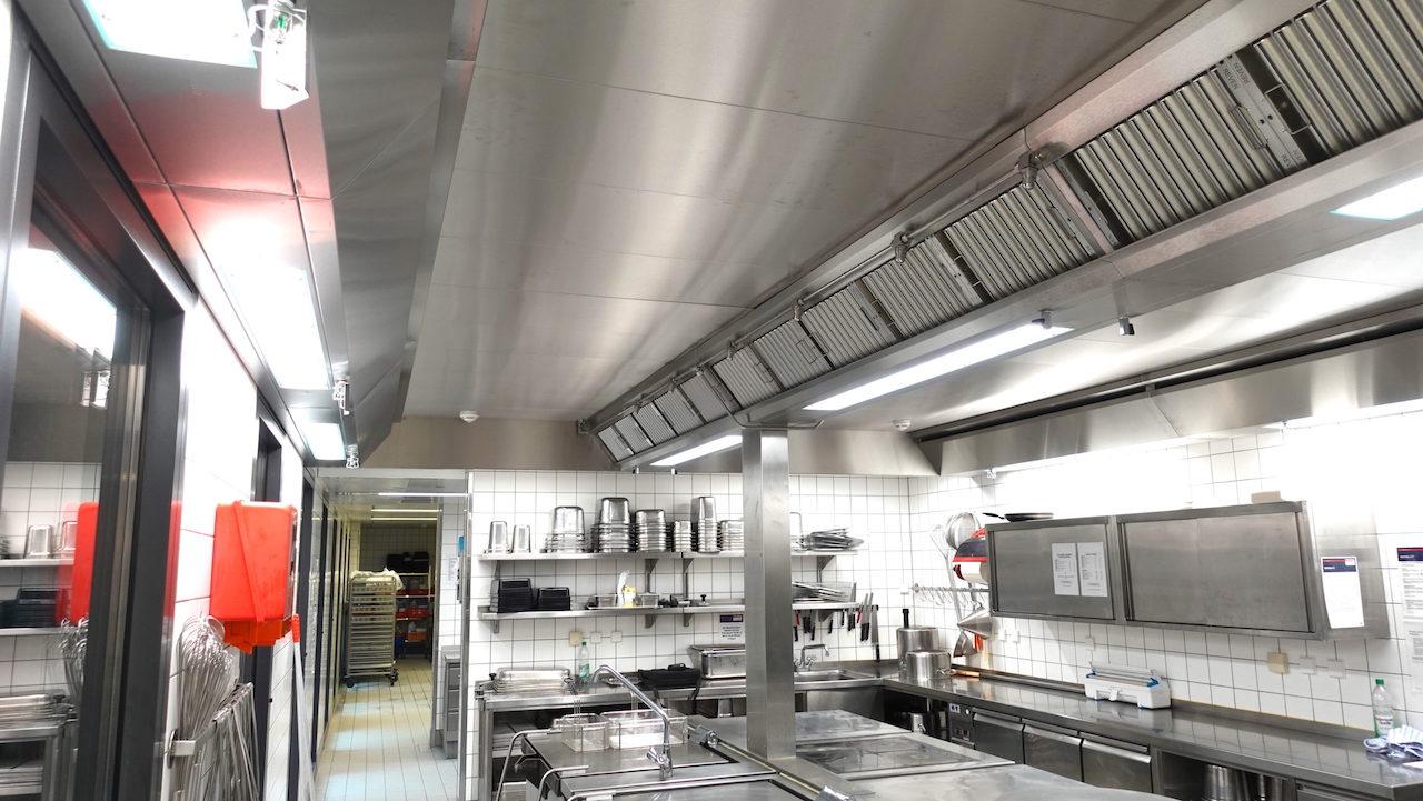 verschiede Arten von gewerblicher Küchenlüftung
