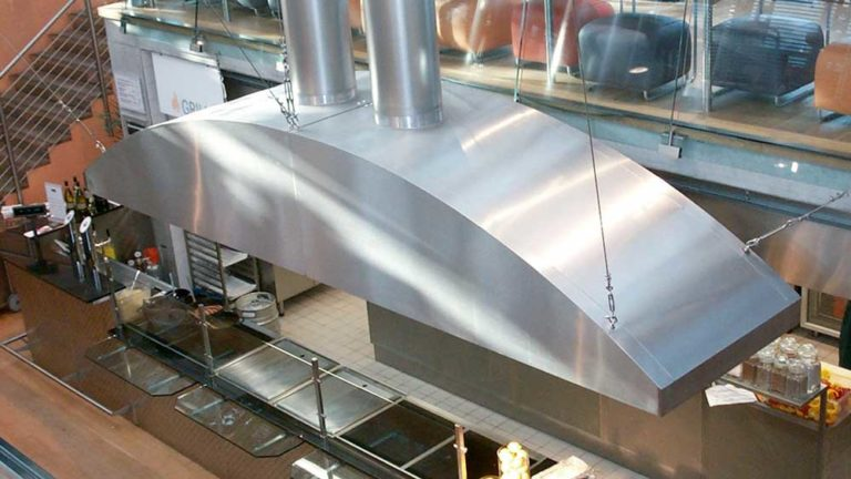 Special design of an exhaust air hood