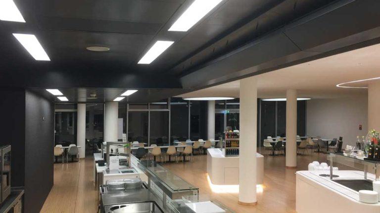 Blackened ventilating ceiling