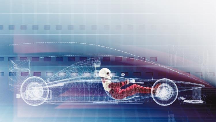 Beispiel CFD Analyse bei einem Formel-1-Rennwagen