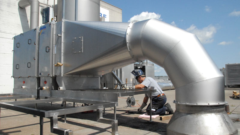 Duct-mounting Filters for the cleaning of the exhaust air in the food industry