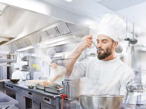 Ventilation systems in commercial kitchens