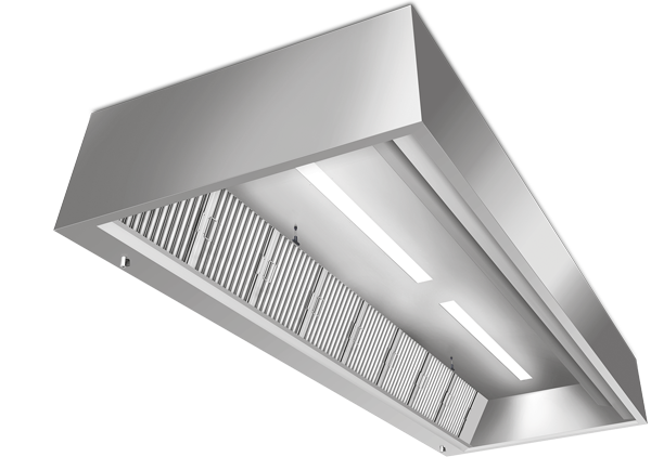 High-grade REVEN® Kitchen Hoods made of stainless steel