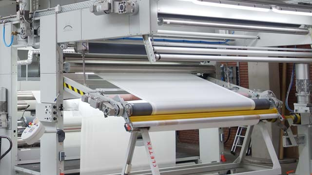 Air-washing system in the textile industry