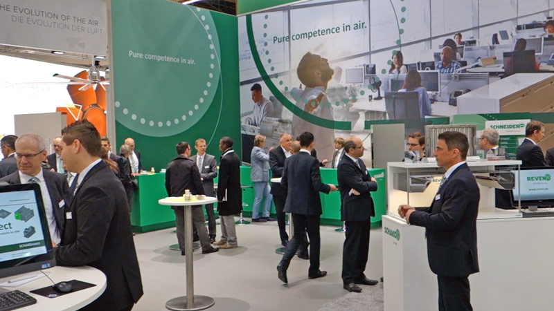 Exhibition stand of the SCHAKO Group