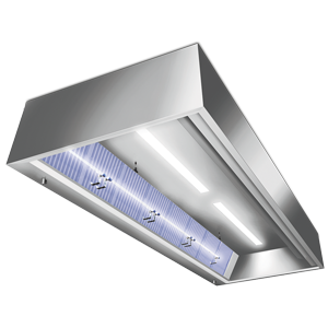 UV-System for exhaust hoods for odour elimination