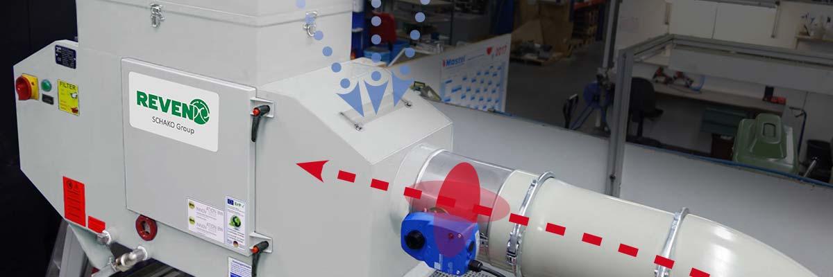 Emulsionsnebelabscheider mit XSC-Steuersystem