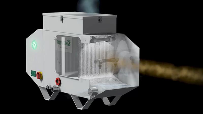 Ölnebelabscheider mit integriertem Sprühwäscher beseitigt Moleküle