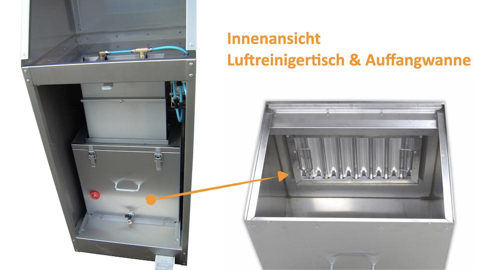 Innenansicht Luftreinigertisch T by REVEN
