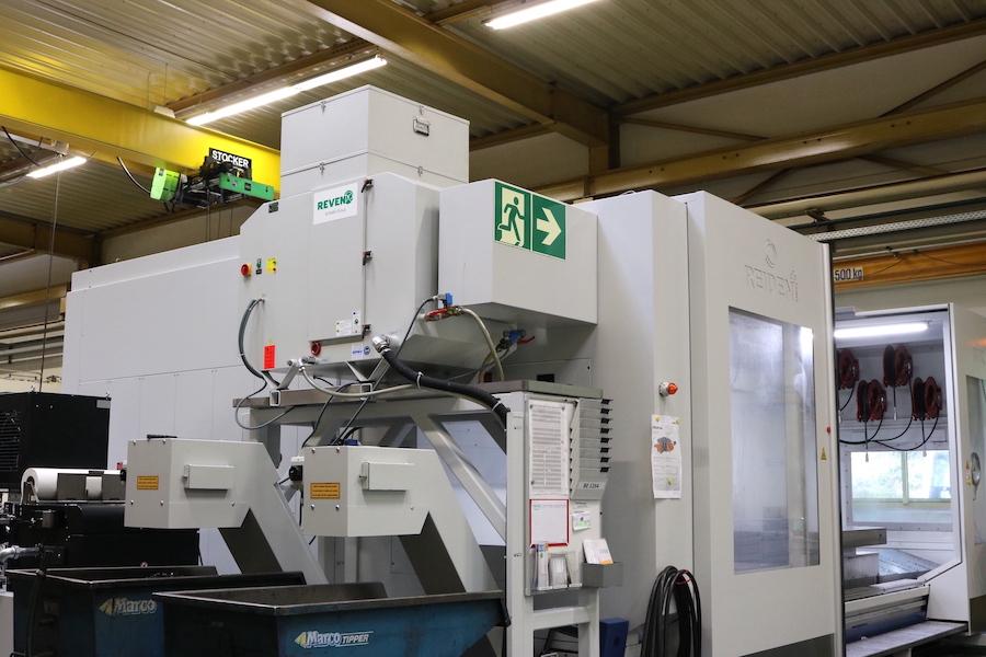 REVEN Ölnebelabscheider auf REIDEN Großmaschinen aus der Schweiz zur kombinierten Fräs- und Drehbearbeitung