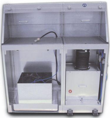 Stromloser Luftreinigertisch mit einer zusätzlichen Waschfunktion