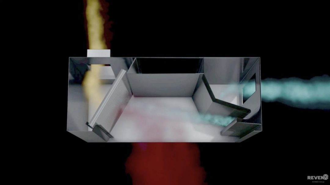 Innovative Lüftungstechnik kondensiert verdampftes Wasser und Öl