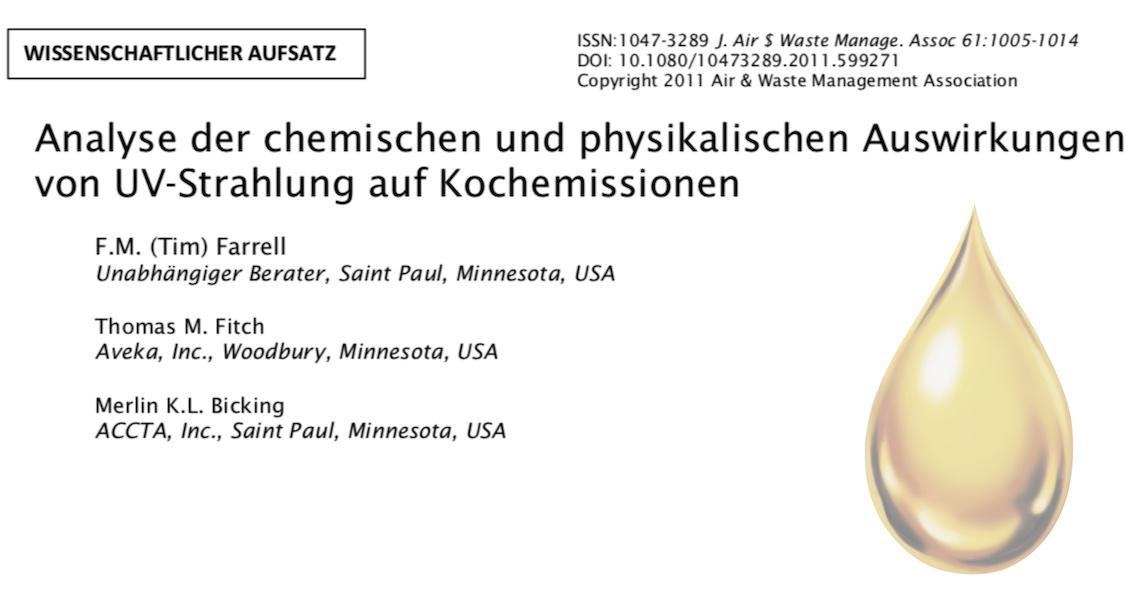 US Studie zur Wirksamkeit von Ozon und UVC in der Küchenlüftung