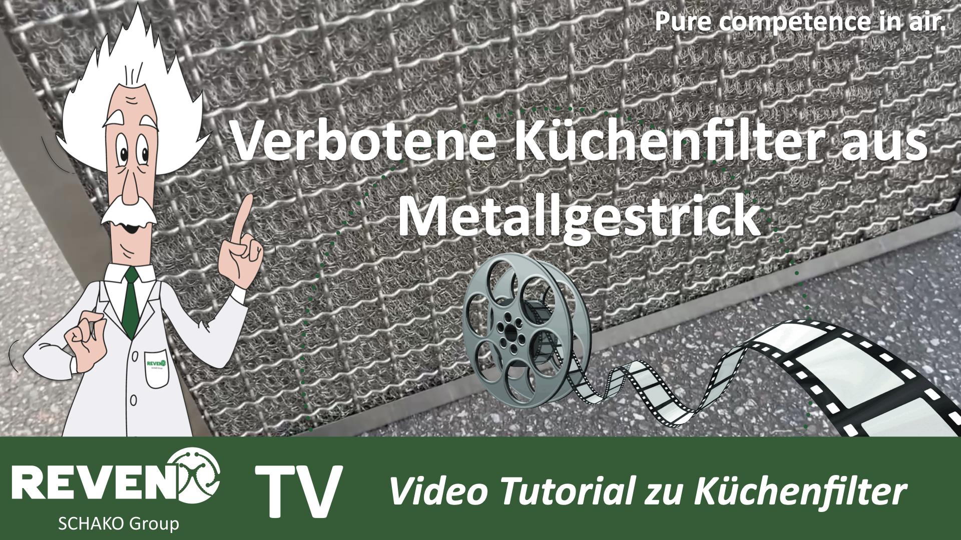 Verbotene Küchenfilter aus Metallgestrick