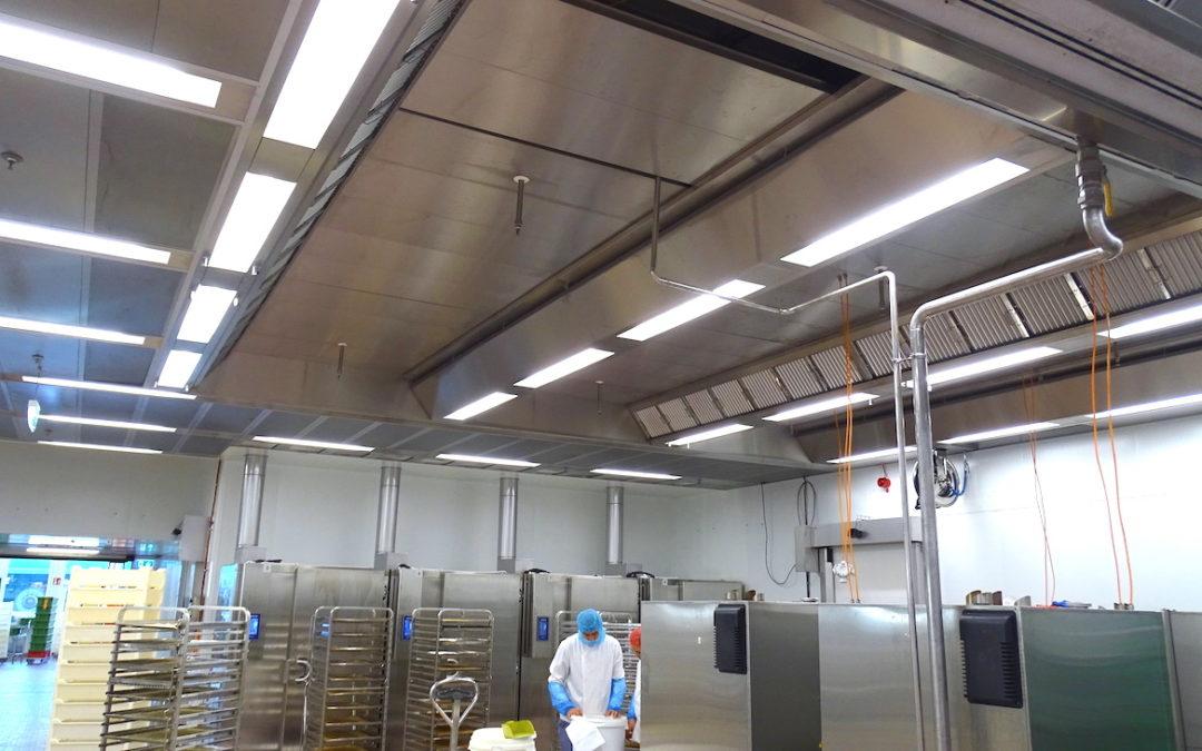 Küchenlüftung zur Luftreinhaltung in der Lebensmittelindustrie