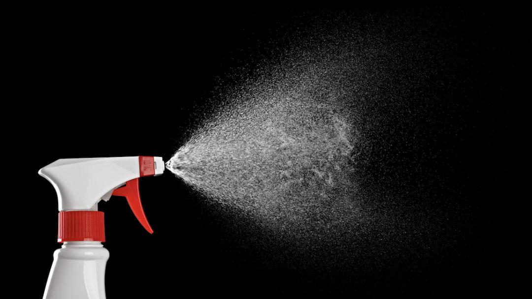 Aerosolpartikel aus sehr fein versprühter Flüssigkeit