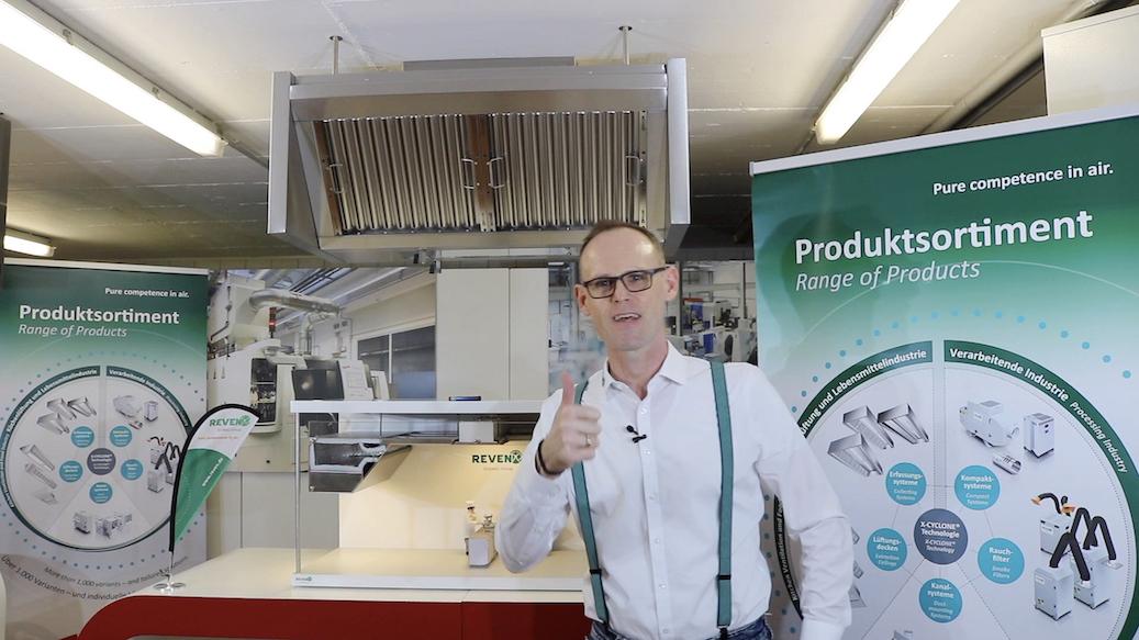 Küchenlüftungshauben mit verbesserter Erfassung von Kochdämpfen
