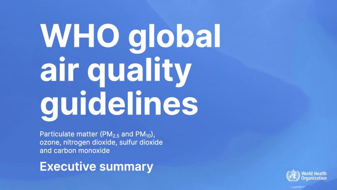 Zusammenfassung der neuen WHO Richtwerte fuer Luftschadstoffe 2021